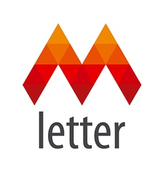 Logo red letter m module vector