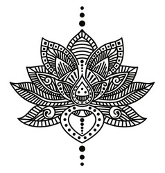 Lotus flower tattoo vector