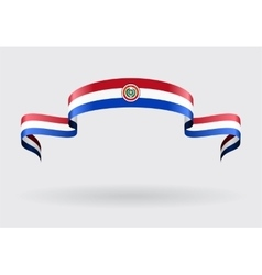 Paraguayan flag background vector image vector image