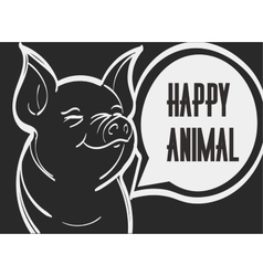 picture of pig Hand drawn vector image