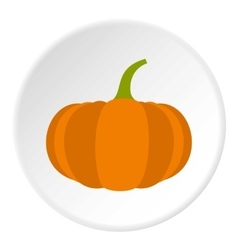Pumpkin icon flat style vector image