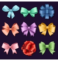 Ribbons set for Christmas or Birthday gifts vector image vector image