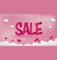 Sale banner of valentines conception vector