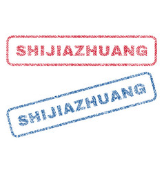 Shijiazhuang textile stamps vector