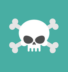 Skull and crossbones isolated pirate danger sign vector