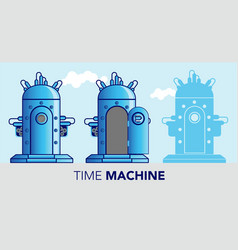 Time machine vector