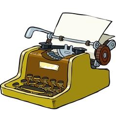 typewriter vector image