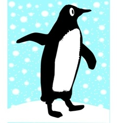 Pointing Penguin vector image
