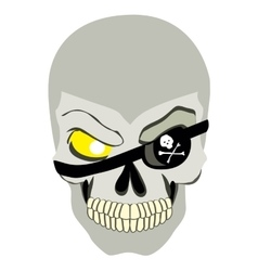 Danger pirate skull in bandane vector
