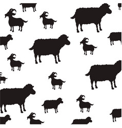 goat and sheep farm animals vector image