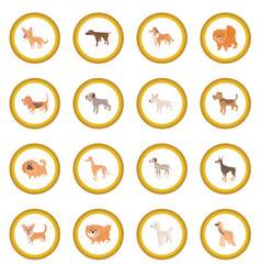 Dog icon circle vector