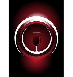 Wine icon with a metallic shine vector