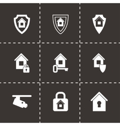 Home security icon set vector