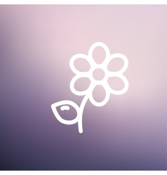 Flower thin line icon vector
