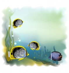 Ound underwater world vector illustration vector