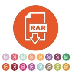 The rar file icon archive and compressed symbol vector