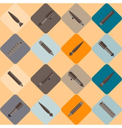 Pen set seamless pattern vector
