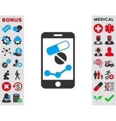 Pharmacy online report icon vector