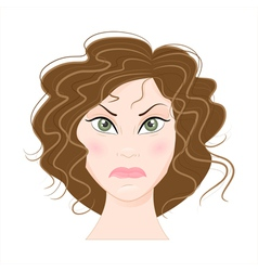 Angry woman vector