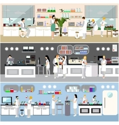 Scientist working in laboratory vector image