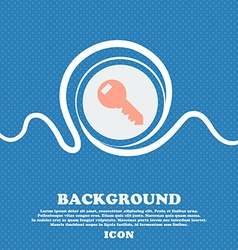 Key sign icon unlock tool symbol blue and white vector