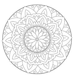 Coloring Floral Leaf Mandala vector image