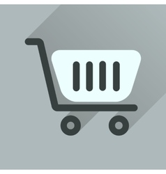 Flat icon with long shadow shopping cart vector