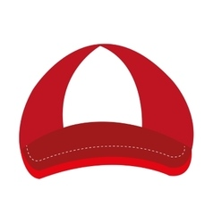 Red and white cap graphic vector