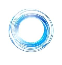 Abstract blue circle banner logo design template vector