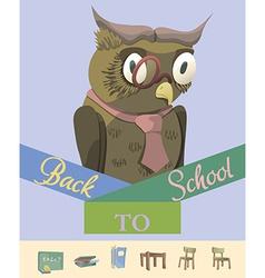 Back to school owl vector