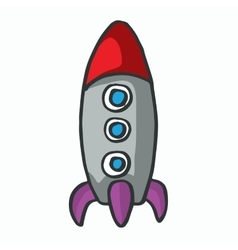 Cartoon rocket kids t-shirt design vector