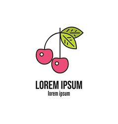 Cherry logo vector