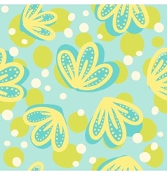 Cute hand drawn floral pattern vector image