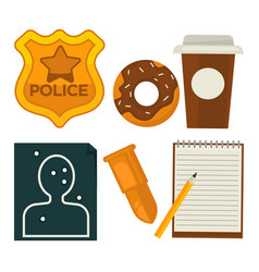 daily average policeman belongings isolated vector image