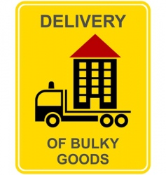 delivery of bulky goods vector image vector image