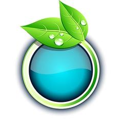Eco button vector image vector image