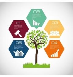 Eco plant environment care icon vector
