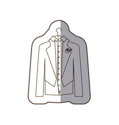 Gloom elegant suit icon vector