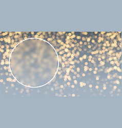gray and golden bokeh background vector image vector image