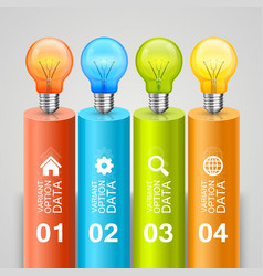idea of bulbs in the chart vector image