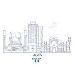 Lagos city skyline vector