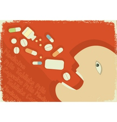 medicine poster vector image vector image