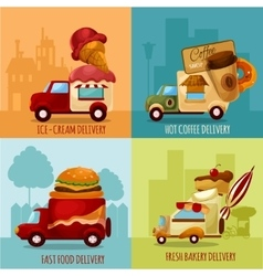 Mobile food delivery vector
