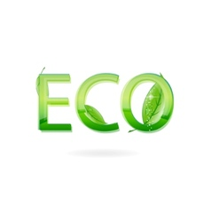 nature eco sign green color vector image