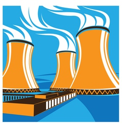 Nuclear power station vector