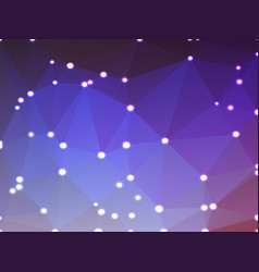 Purple lilac pink geometric background with lights vector