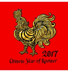 Rooster chinese zodiac symbol of the 2017 year vector