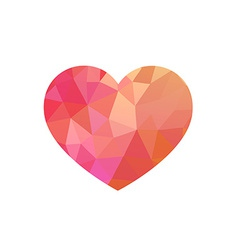Rose Triangular heart vector image
