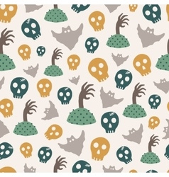 Seamless Halloween pattern vector image vector image