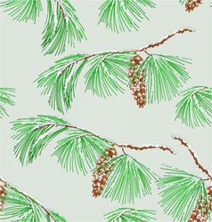 Seamless texture branch pine and snow vector